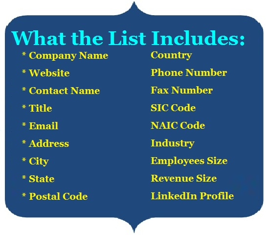 Chief Procurement Officers (CPO) Email List - Mailing Lists- Mails STORE