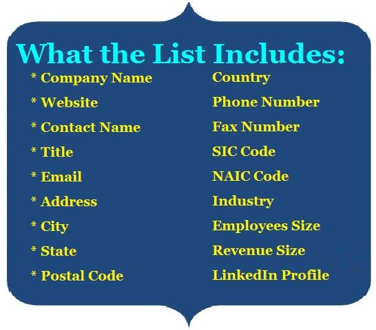 Diagnostics Email List - Mailing Lists - Mails STORE